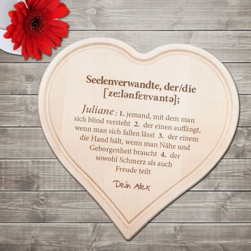 Das Gravierte Holzherz   Definition Seelenverwandte Ist Ein Schönes  Geschenk Mit Viel Liebe Und Aussagekraft.