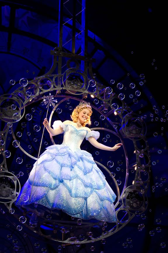 """Wicked the Musical - Glinda the Good I want to enter the room like this! """"Are you happy to see me?"""" """"Yes!"""" """"No need to answer, that was rhetorical."""" AWESOME!!!"""