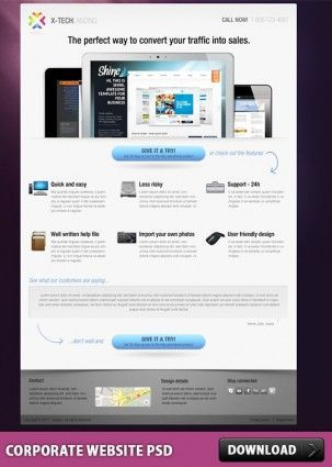 Corporate Website PSD