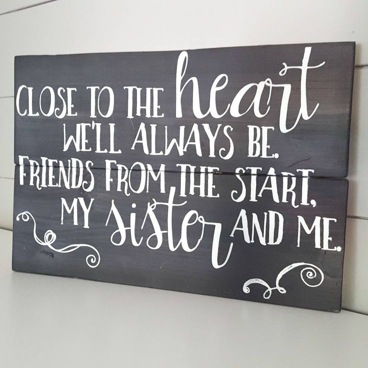 Birthday quotes for her 25 pinterest sister wood sign sister signs sisters sign sister quotes sister birthday gift sister wall decor sisters wall art gift for her by thecozeeshack negle Gallery