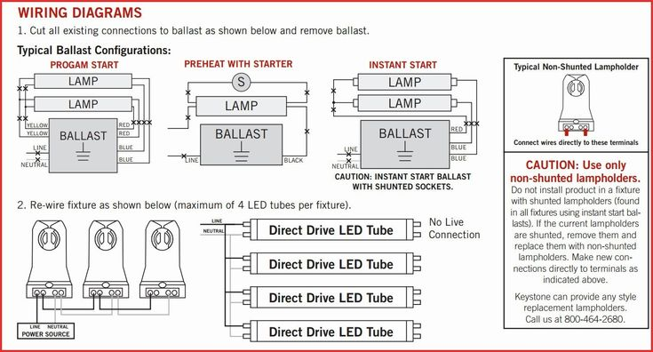 Wiring Diagram For A 4 Lamp Ballast
