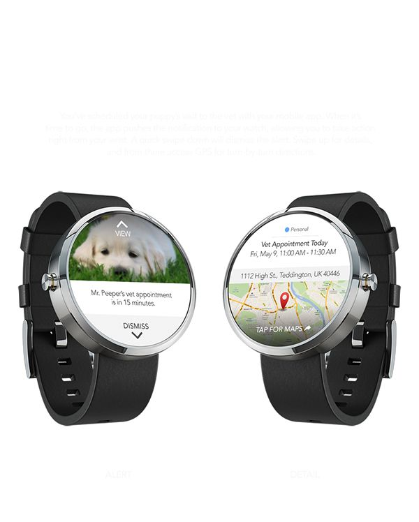 Android Wear - Veterinary App Notification on Behance
