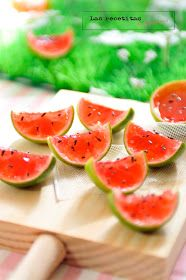 Las recetitas (de Mirasens): Jello shots (chupitos de gelatina) con forma de sandía