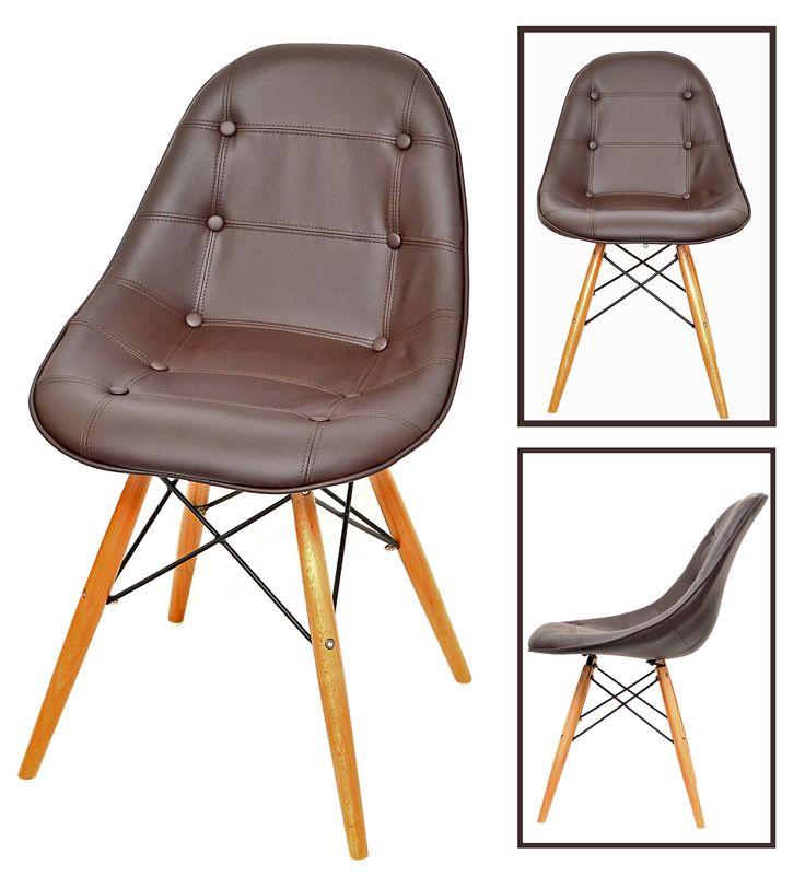 Designer Stuhl 50er Jahre Küchenstuhl Eßzimmerstuhl Barhocker Braun Mit  Holz NEU | EBay