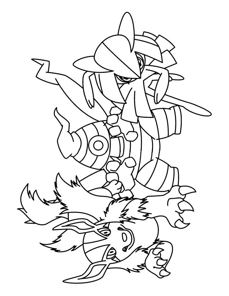 pokemon group coloring pages - photo#13