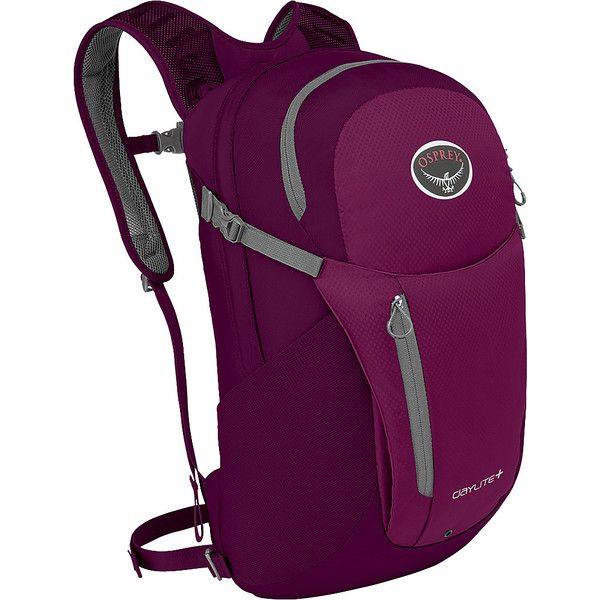 Osprey Daylite Plus Laptop Backpack - Eggplant Purple - Hiking... ($65) ❤ liked on Polyvore featuring bags, backpacks, purple, osprey backpacks and osprey bags