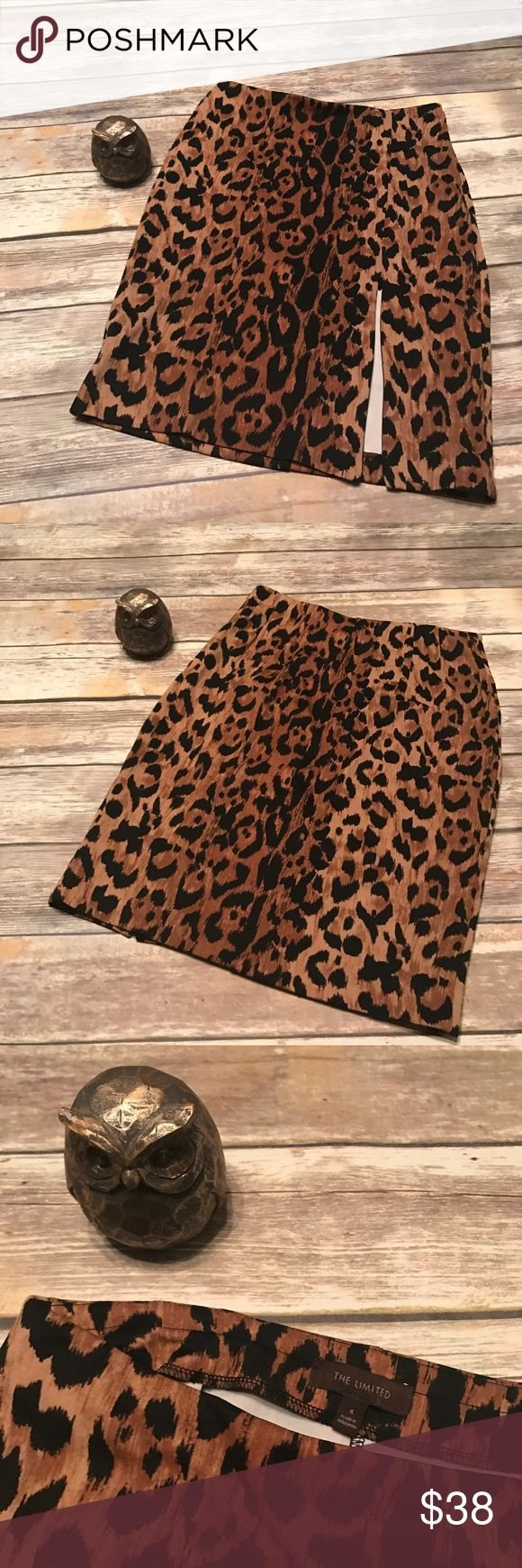 The Limited Animal Print Leopard Pencil Skirt 🐆 Sophisticated Animal Print Leopard Pencil Skirt from The Limited. Size 6. Comes from a pet friendly home. 🐶🐱 The Limited Skirts Pencil