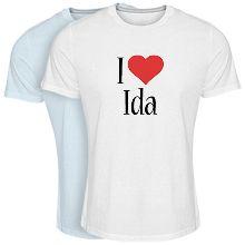 Custom T-shirt > Ida i-love