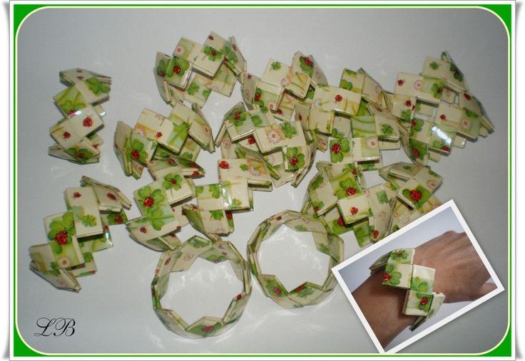 Candy bag - skládané kabelky+čajové sáčky :: Pleteme z papíru