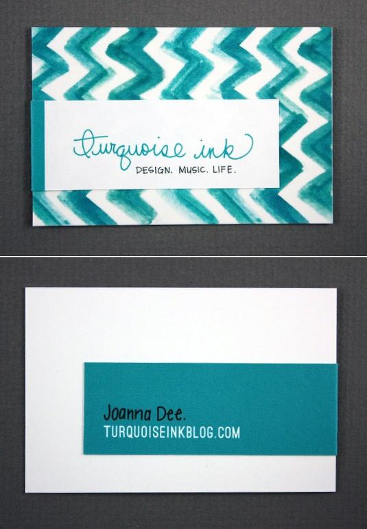Turquoise Ink / Joanna Dee  turquoiseinkblog.com  {Great color}Business Cards, Turquoiseinkblog Com Great, Turquois Ink, Dee Turquoiseinkblogcom, Dee Turquoiseinkblog Com, Graphics Design, Dee Business, One Turquoise Ink, Joanna Dee