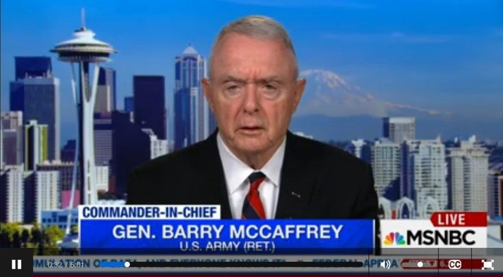 Gen. McCaffrey on Trump's Putin comments, 'the most anti-American statement ever made by a POTUS' General Barry McCaffrey, now retired, appeared on MSNBC Live with Hallie Jackson to discuss Donald Trump's jaw-dropping comments on Russian President Vladimir Putin.      JACKSON: MSNBC military analyst andretired four-star generalBarryMccaffrey,...