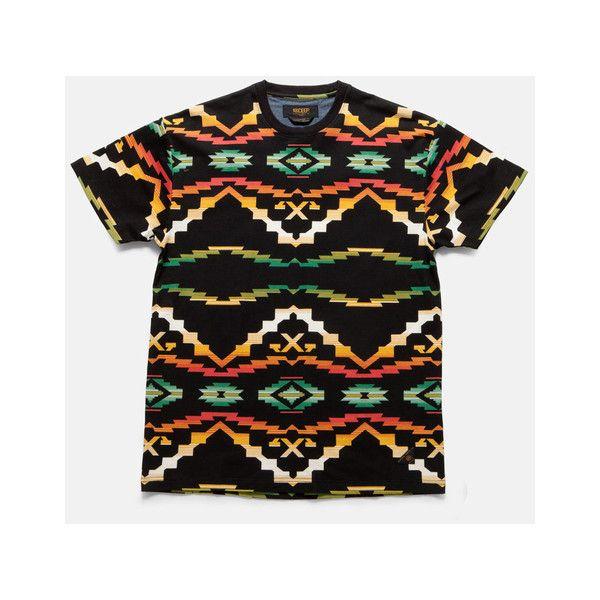 10Deep   Tops   Sangoma Tee - Black Native ($44.00) ❤ liked on Polyvore featuring tops, t-shirts, shirts, shirt tops, tee-shirt and t shirt