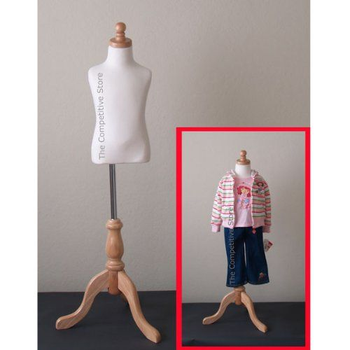 Kids 3-4 Years Child Jersey Mannequin Dress Form - Boy or Girl - White with Natural Tripod Base The Competitive Store http://www.amazon.com/dp/B0040H8434/ref=cm_sw_r_pi_dp_X1nGub1EBAW9B