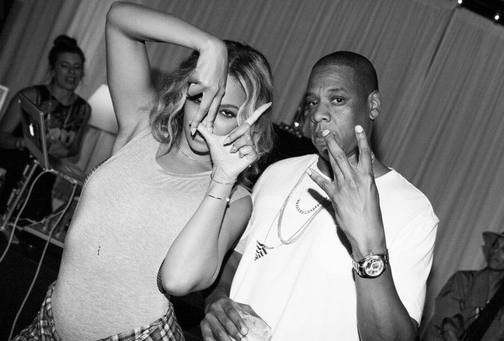 Pin for Later: Beyoncé's Ultimate Guide to Sasha Fierce Seduction She is the epitome of cool. Even when she's throwing up an LA sign backward, she's. So. Cool. And Jay Z can't resist. Source: Rob Hoffman