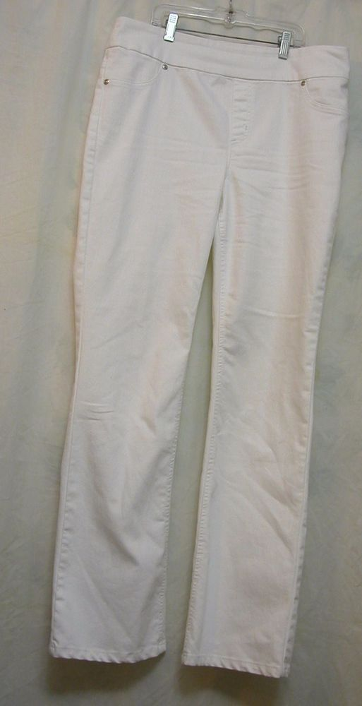 Chico's size 1.5 Medium 10 White Denim Pants Women's Jeggings  #Chicos #CasualPants