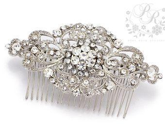 Wedding Hair Comb Rhinestone Hair comb Bridal Hair Comb Hair Accessory Wedding Jewelry Wedding Accessory Bridal Comb Bridal Jewelry Aimee