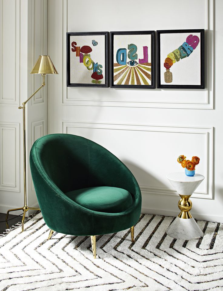 Ether Chair Color Crushing Monthly Color Inspiration Photo Inspiration Jonathan Adler Living Room Minimalist