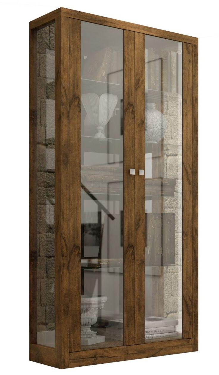 Foto principal de Estante Cristaleira, Com Portas de Vidro, alto padrão TC604 - Dalla Costa Móveis