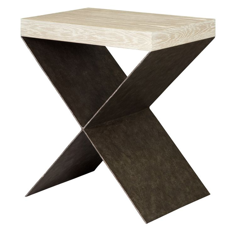X Side Table In Wood And Brass #contemporarydesign Side Tables  #contemporarysidetable Living Room Design Part 67