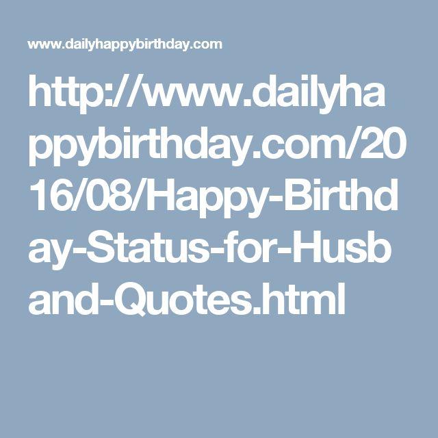 The 25+ Best Happy Birthday Husband Ideas On Pinterest