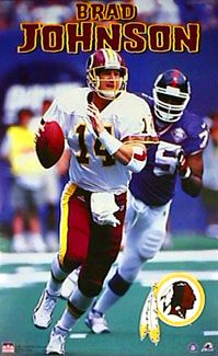washington redskins 1999 | Brad Johnson SCRAMBLE Poster - Washington Redskins Football - Starline ...