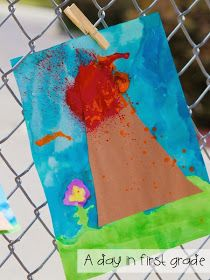 A day in first grade: Volcanoes! {best day ever!!!}