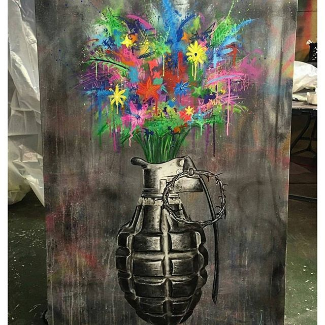 Take a look at this great piece by artist SAGE sage_barnes Dangerously Beautiful 30x48
