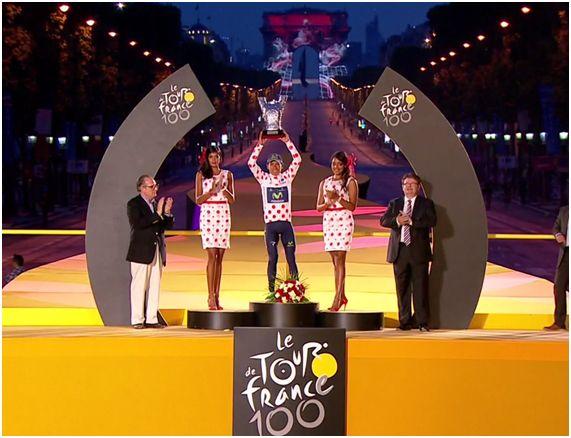 Nairo Quintana Campeón de la Montaña Tour d' France 2013