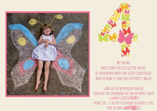 Draw the wings & snap a photo! Invitation pic idea for a girls party!