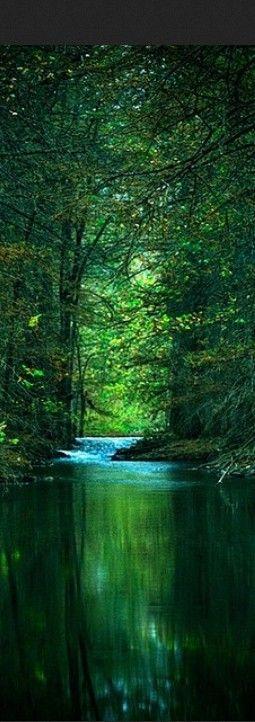 los verdes de este paisaje nos dan una sensación de frescura