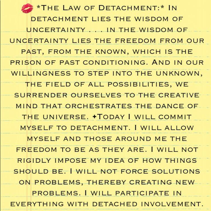 The Law of Detachment - The Seven Spiritual Laws to Success by Deepak Chopra book: http://www.amazon.com/dp/8189988042 Video: http://www.youtube.com/watch?v=xfgt2M0r4bQ