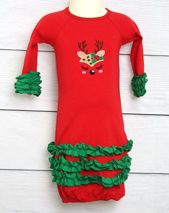 Infant Christms Outfit, First Christmas Baby Girl, First Christmas
