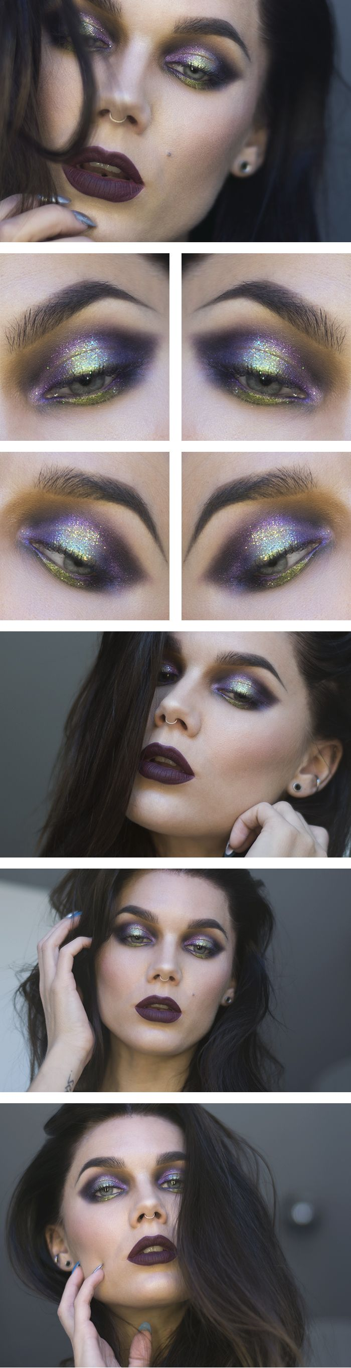 "Linda Hallberg - Look ""Glitter's not cute"" (June 2014) #MakeUp"
