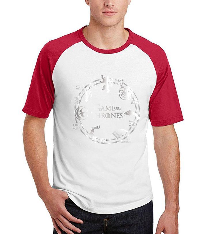 juego de tronos novelty men 2017 summer cotton t shirts Winter Is Coming harajuku camisetas  raglan short sleeve t-shirts #Affiliate