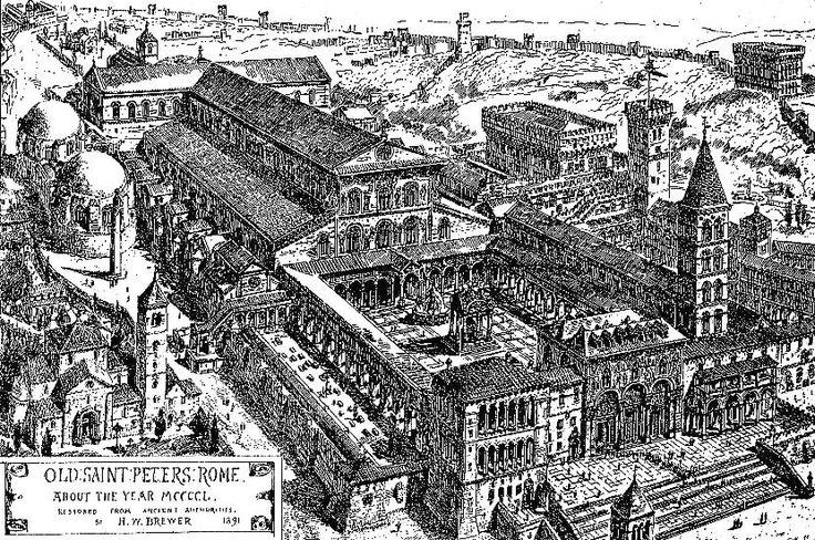 En la foto superior podemos ver como era el Vaticano a principiosdel siglo XVI. En esa época encontramos: -La cúpula de San Pedro, aún en construcción. Tras morir Miguel Ángel Buonarroti, en el añ...