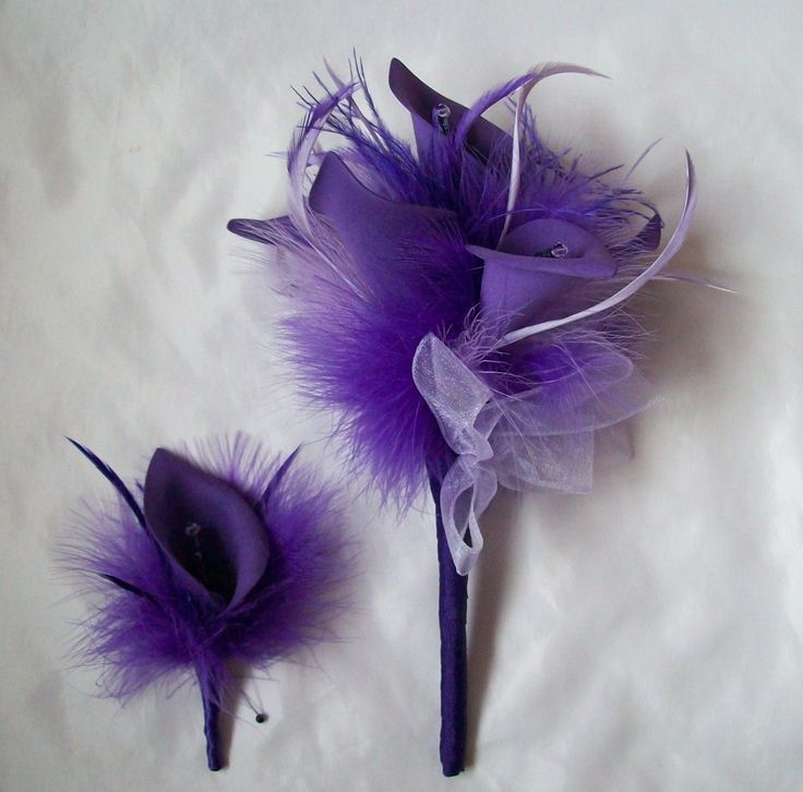 Purple & Lilac Calla Lily Wedding Bouquet and matching buttonhole Order Now from www.indigodaisyweddings.co.uk Specialising in stunning bespoke cocktail fascinators and formal hats in a wide range of colours, perfect for Royal Ascot and The Kentucky Derby. Plus all your wedding floral accessories including shoe clips, bandeau veils,vintage flapper bands, feather and flower fascinators, feather fans, fairy wands, wrist corsages, wedding bouquets & buttonholes. Worldwide Delivery. #wedding #f