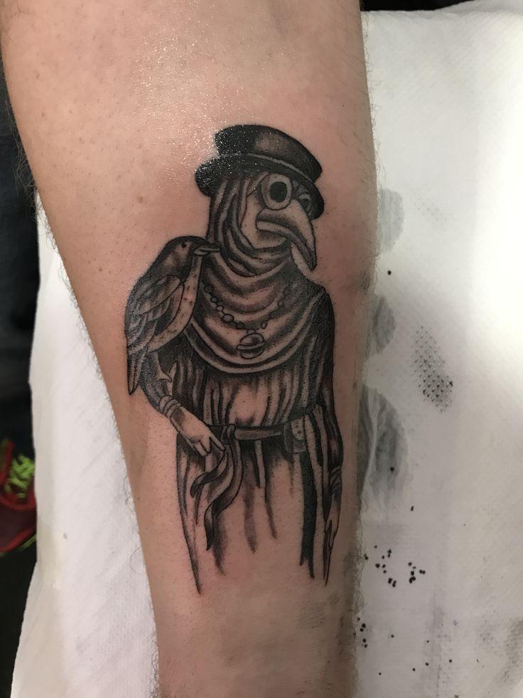 Plague doctor tattoo