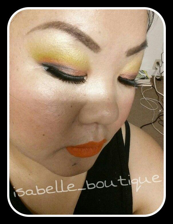 Tropical Sunsets makeup n Eyelashes