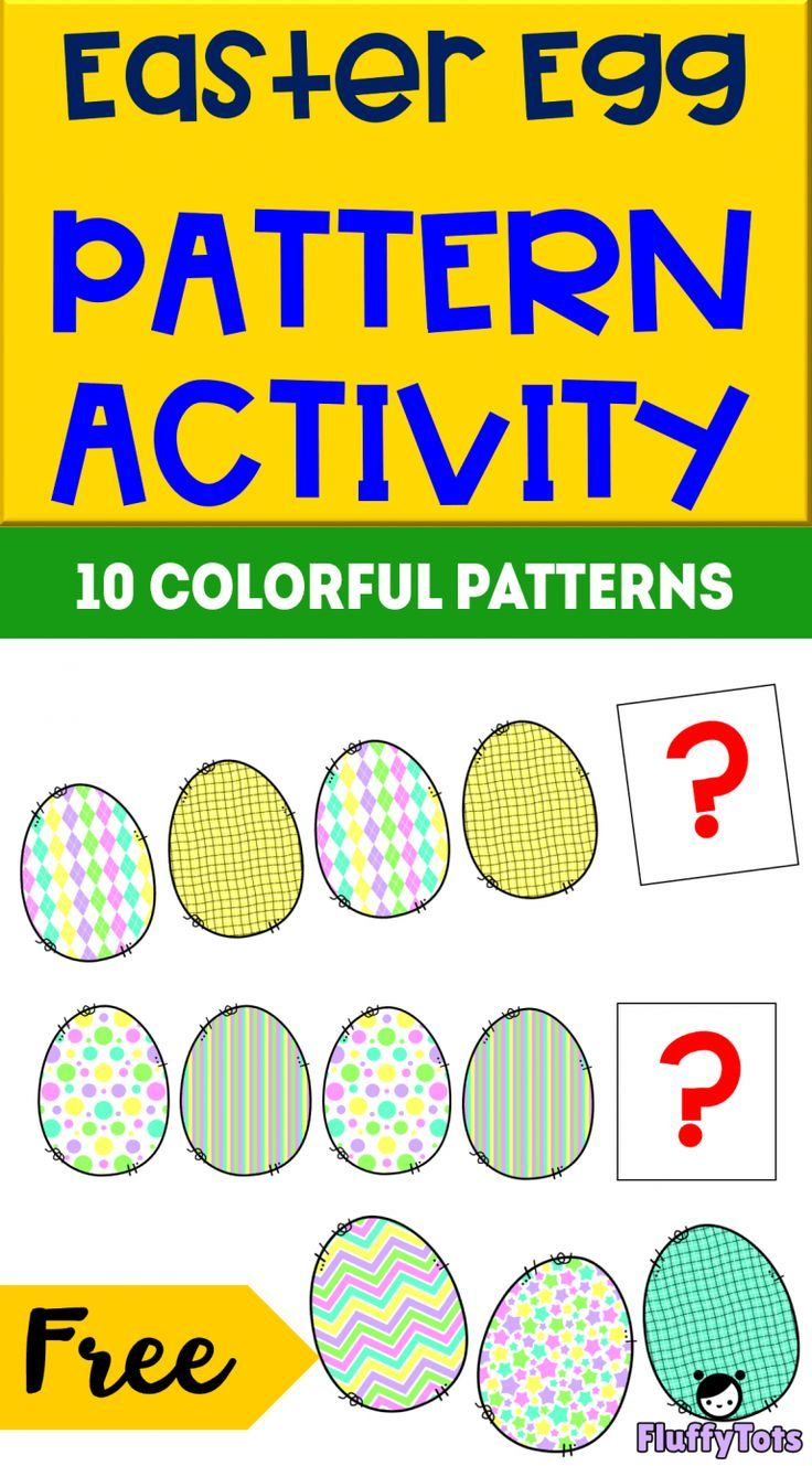 Easter Egg Pattern Activity Grab This Free 10 Simple Egg Patterns For Toddlers Pattern Activities Easter Activities For Preschool Easter Learning Activities [ 1329 x 736 Pixel ]