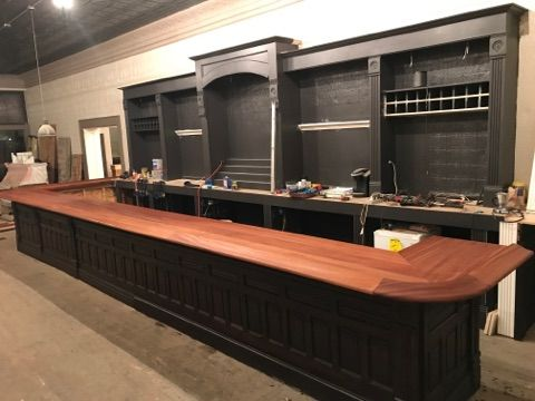 Pictured is a commercial bar under construction in Bushnell IL by owner  Mark Rauschert. This