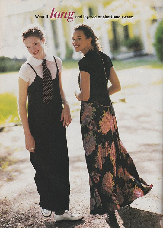 Wear it long and layered or short and sweet.' (1994) #Seventeen