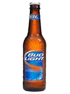 Bud light beer.