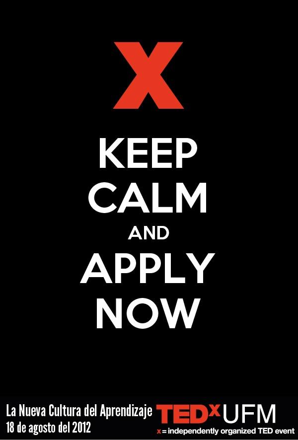 Puedes aplicar a #TEDxUFM en www.tedx.ufm.edu