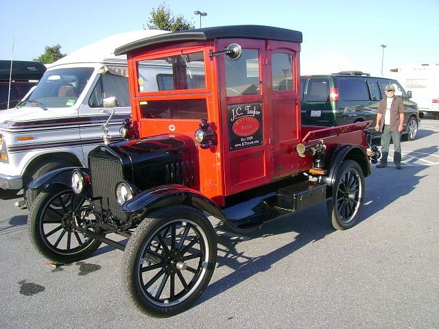 1919 Ford Model T Pickup. I drive a '96 red Ford pickup.