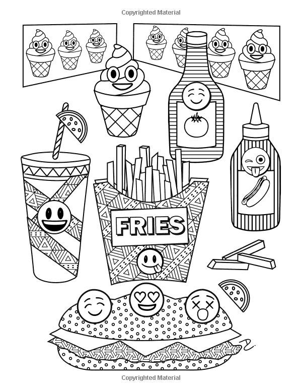 Pin By Daniela Vasile On Food And Drinks Emoji Coloring Pages