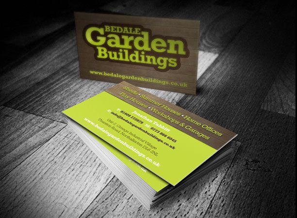 garden building company business card design