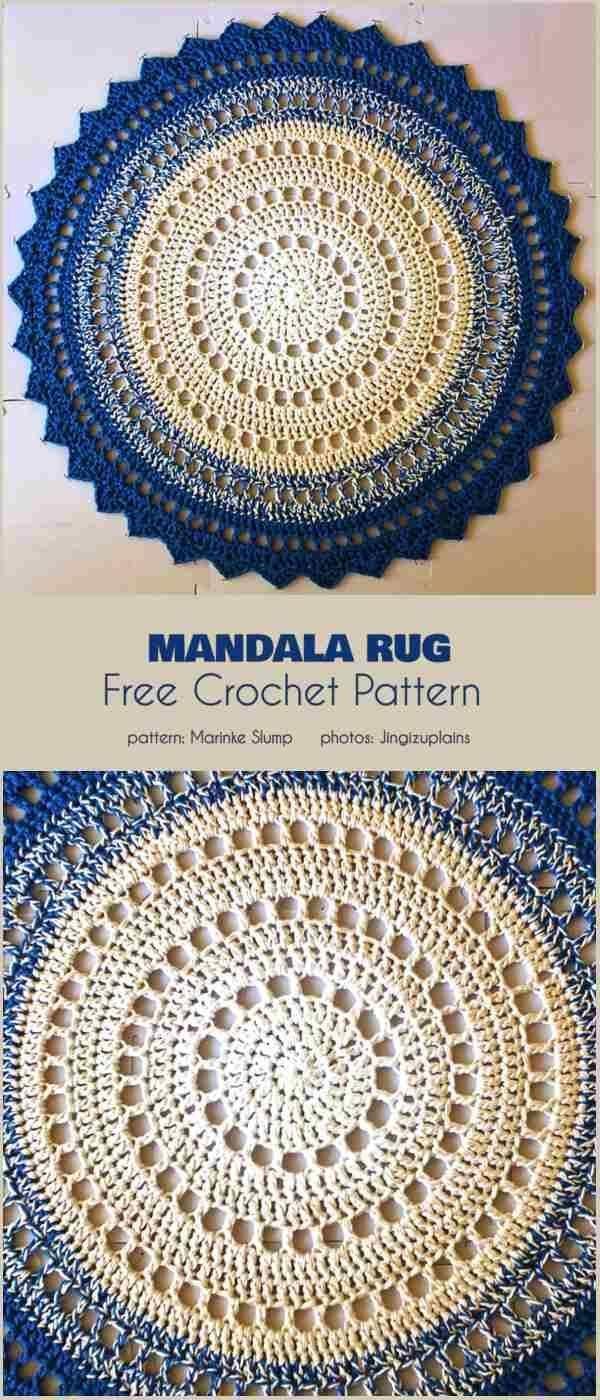 Mandala Rug Free Crochet Pattern Tricks Of Knitting Knitting Is One Of The Most En In 2020 Crochet Rug Patterns Free Crochet Rug Patterns Crochet Mandala Pattern