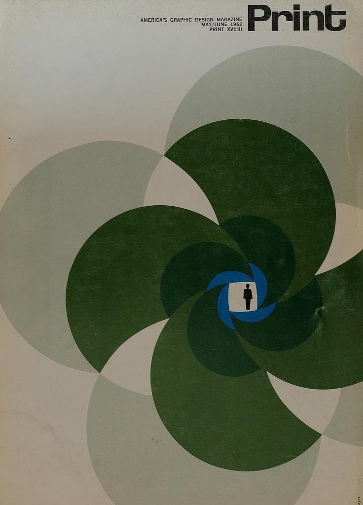 magazine cover by Herbert Bayer (1962)
