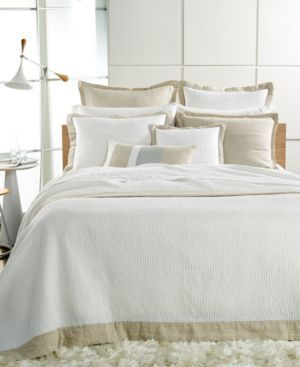 Hotel Collection Linen Natural Quilted European Sham Bedding | 30% OFF