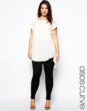 Image 1 of ASOS CURVE Legging In Texture